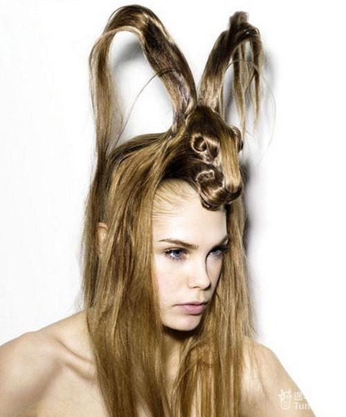 千奇百怪的发型图片