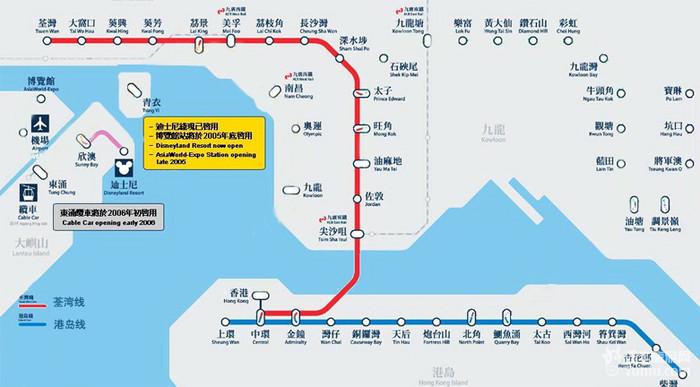 香港地铁线路地图 地铁线路图地图查询图片